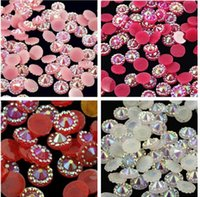 Wholesale Nail Rhinestones Gems Pearls - 10000pcs 4mm Jelly AB 10 color Sunflower Flat Back Beads Resin Rhinestones Gems Nail Art Craft Diy Scrapbooking