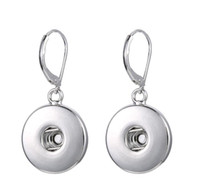 Wholesale Metal For Jewerly - NOOSA chunks metal snap button earrings 2015 Fashion hot Interchangeable Jewerly for women