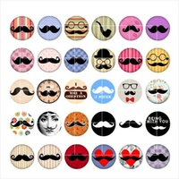 Wholesale Wholesale Mustache Jewelry - newest Mustache snap button jewelry charm popper for bracelet 30pcs   lot GL014 noosa,jewelry making supplier