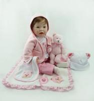 Wholesale Reborn Baby Dolls Cheap - 55cm Hot sale cheap dollar Victoria adora Lifelike newborn Baby Bonecas Bebe kid toy girl soft silicone reborn baby dolls