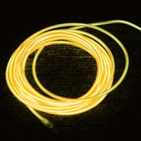Wholesale El Wire Light Green - Lemon Red Yellow Green White Blue Purple Pink 3M Flexible Neon Light EL Wire Rope Tube with Controller
