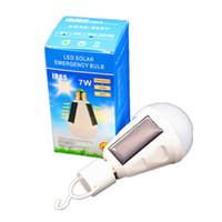 Wholesale wholesale daylight bulbs online - E27 W Solar Lamp V Energy Saving Light LED Intelligent Lamp Rechargeable Solar Emergency Bulb Daylight ZJ0558