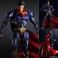 Superman Action Figure Play Arts Kai Movable Justice League Giocattoli in PVC 270mm Anime Movie Model Superman Playarts Kai