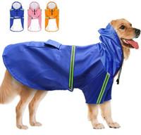 roupas para cães 5xl venda por atacado-Cão de estimação Roupas Refletivas Labrador Dourado Cão Grande À Prova D 'Água À Prova de Chuva PU Capa de Chuva 5XL 8 Tamanhos