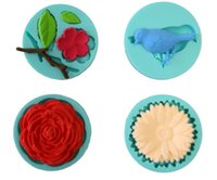Wholesale Animal Bird Flower Pattern SET Fondant Cake Decorating Moldes De Silicona Silicone D Cake Mold For Cupcake Color Green