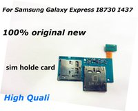 Wholesale Galaxy Express I437 - 3.18 SIM card holder + micro SD memory card slot Flex Cable for Galaxy Express I8730 I437 SIM card holder micro SD memory flex Free Shipping