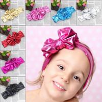 цветочный бант ткани оптовых-Мода ткань дети лук головные полосы детские цветок букет девушки повязки для детей аксессуары для волос цветочные оголовье