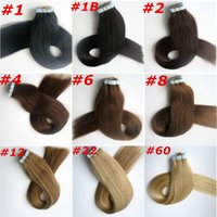 Wholesale skin weft hair extensions - 100g Glue Skin Weft Tape in Hair Extensions inch brazilian indian human hair Extensions