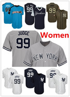 Wholesale Yankees Women - Women Yankees 99 Aaron Judge Baseball Jersey Navy Blue White Gray Grey 2017 All Star Players Weekend Green Salute Team Logo