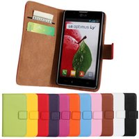 Wholesale Lg L7 Pouch - High Quality Oil Wax Style Leather Flip Wallet Case Pouch For LG Optimus L7 2 Dual P710 P713 Free Shipping