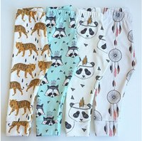 Wholesale Boys Girls Harem Pants Panda Teepee Pants For Toddler Baby Girl Boy Harem Pants Reccoon Dreamcatcher Tiger Children Clothes