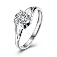 Wholesale Unique Ideas - New Ideas Unique Designer Geometry Flat Ring Fashion Prong Setting Party Anniversary Valentines Gifts Ladies Girls Women