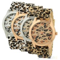 Wholesale Leopard Watch For Sale - 2016 Sale Casual Sexy Women Girls Ladies Geneva Leopard Jelly Silicone Quartz Wrist Watch Watches For Christmas gift 0033