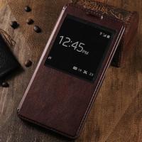 телефонные кошельки оптовых-Wholesale-Huawei Ascend Mate 7 Case High quality wallet Windows design Holster Flip Leather phone Cases Cover C314-A
