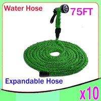 Wholesale expandable hose connector - New Expandable Flexible Water Garden Hose flexible water pipe Wash car FT Simple Packaging ZY SG