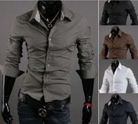 Wholesale Imported Mens Shirts - free shipping New Arrival Top Quality Brand Mens Imported Clothing mens Dress Shirts Men Korean Slim Long sleeve Shirts