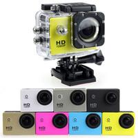 nouveau full hd mini dv achat en gros de-Nouveau SJ4000 A9 style 2 Pouces Écran LCD mini Sport caméra 1080 P Full HD Action Caméra 30 M Étanche Caméscopes casque sport DV