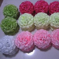 Wholesale wholesale kissing balls new - 8 Inch 20cm New Arrival Artificial Rose Silk Flower Kissing Balls Hanging Ornament For Wedding School Opening Ceremony Decorations Supplies