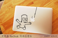 "Wholesale Sticker Simpsons - Free Shipping The series of The Simpsons-7 Creative personality Vinyl Local Decal Sticker Skin for Apple MacBook12""13""15"" 17"" Retina13"" 15"""