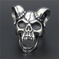 Wholesale ghost jewelry - 3pc lot Size 8-13 Newest Design Ghost Skull King Ring 316L Stainless Steel Top Quality Men Boy Fashion Jewelry Skull Ring