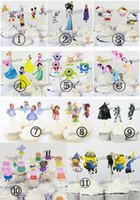 Wholesale Frozen Princess Monsters University Mickey Mouse Cupcake Sticks Printing Paper Cupcake Topper Inserted Card Birthday Party Decoration DHL