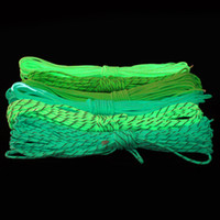 Wholesale Paracord Reflective - Wholesale-100ft (30m)Glow in the dark Reflective Luminous 550Lb Paracord Parachute Cord Lanyard Rope 7 Strand Core