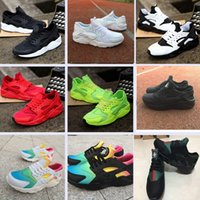 Wholesale eur size 46 - Classical Huaraches Ultra breathable running shoes for men and women Black Rainbow Huarache shoes Athletic Sport Sneakers Eur Size 36-46