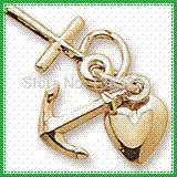 ancre croix coeur collier achat en gros de-2014 50pcs beaucoup d'ancre de coeur et charmes religieux croisés pour le charme de collier d'ancre de bracelets