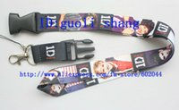 Wholesale One Direction Neck Strap - Wholesale-Free shipping New Lot 10 pcs ONE DIRECTION Phone Lanyard Key Chain Neck Strap lanyard Wholesale