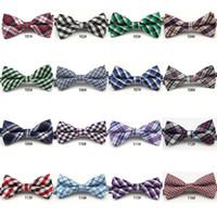 ingrosso usura del partito dei neonati-Cute Baby Boys Cravatte Plaid Bowknot Accessori per bambini Party Wear Moda classica Check bambini Tie Bow