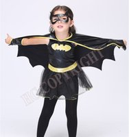 Девушки Batman Superhero Halloween Cosplay Costumes Batgirl Fantasia Vestido Fancy Tutu Dress Kids Disguise Carnival Party Outfit