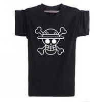 Wholesale Straw Hats Luffy - Wholesale-Cheap Fashion T Shirts Men One Piece Luffy Straw Hat Tshirt Cotton Normal O Neck Tops Anime T-Shirt Clothing Short Sleeve F10614