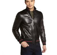 Wholesale Striped Leather Jackets Men - 015 new striped men jackets PU leather jacket Brand casual-jacket jaquetas de couro man coat outerwear