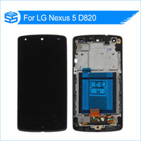 инструменты nexus lcd оптовых-Wholesale-For Nexus 5 D820 LCD With Touch Screen Digitize with Frame Black +Tools