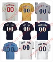 Wholesale Custom Cooling - Mens Milwaukee Custom #3 Arcia Villar Thames White Navy Gray Personalized Sewn On Any Name Number Cool Flex Base Jerseys S-4XL