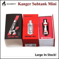 Wholesale Large Tank Clearomizer - Large Stock Kanger Subtank Mini Atomizer 4.5ml Sub Ohm RBA Clearomizer Kangertech Subtank Mini Pyrex Glass tank with OCC coil 100% Original