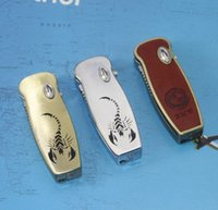 Wholesale Lighters Knives - 5pcs automatic knife metal creative spring roof lighters consigned USB Lighter hot in amazion