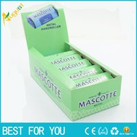Wholesale Box Machine Maker - New hot 70 Mm Mascotte Handroller Manual Metal Tobacco Cigarette Rollbox Rolling Machine Roller Box Tin Roll Ups Extra Slim Smoking Maker