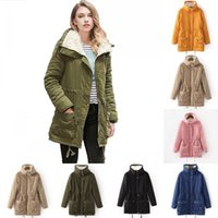 Wholesale Thick Winter Quilts - 2017 winter women jackets cotton padded hooded parkas Female casual wadded quilt snow outwear warm overcoat FS1915