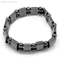 "Wholesale Magnetic Elastic Bracelet - Wholesale-Free Shipping! 3PCs Magnetic Hematite Beads Elastic Bracelets 18cm(7 1 8"") (B20082)"