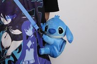 Gros-2016 Nouveau Lilo mignon de point Stitch peluche Sacs à dos Kawaii Messenger Bag Cartoon Bag