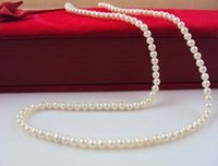 Wholesale Small Beaded Necklaces - Beautiful pearl necklace Hong Fu Yuan 2.5-3.5mm extremely small natural pearl necklace 45cm HFY-1605