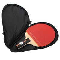 Wholesale Pong Case - New Arrival Nylon Black Table Tennis Racket Bag for Ping Pong Paddle Bat Sport Case with Ball Pouch Two side pips-in rubber order<$18no trac