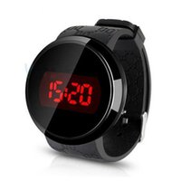 Wholesale Touch Screen Led Round Watch - 2017 simple touch screen LED watch men's women's silicone sports watch luxury digital watch relogio men's gifts free shipping
