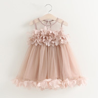 2018 Summer New Baby Girls Kids Flower Lace Wedding Princess Party Vest Dress 2 Цвет 5 Размер