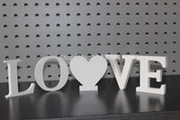 Wholesale LOVE heart wedding newly weds reception wedding decoration LOVE heart letters Wooden Letters Height cm