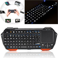 Wholesale Oem Laptop Pc - Mini Portable Wireless Bluetooth 3.0 Keyboard with Mouse Touchpad Backlight for Windows Android iOS Dsktop Laptop Tablet PC TV Box