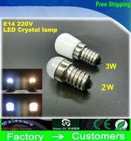 Wholesale Fridge Bulbs - New Product E14 2W 3W Refrigerator LED lighting mini bulb AC220V~240V Bright indoor lamp for Fridge Freezer
