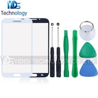 Wholesale Note2 Glass White - Wholesale-Note 2 Outer Glass Lens For Samsung Galaxy Note II Note2 N7100 Front Screen Glass Black White