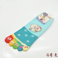 Wholesale One Toe Socks - 2015 Hot Sale Meia Meias Knee High Socks Ms. Toe Socks Factory Wholesale Korean Cute Cartoon Five Fingers Cotton Spring Day One